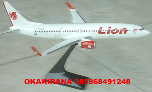 Replika LION AIR type BOEING 900 ER. Ukuran 40 cm